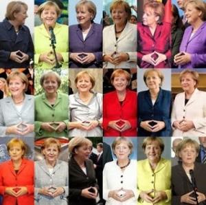 Angela Merkel masonic hand sign